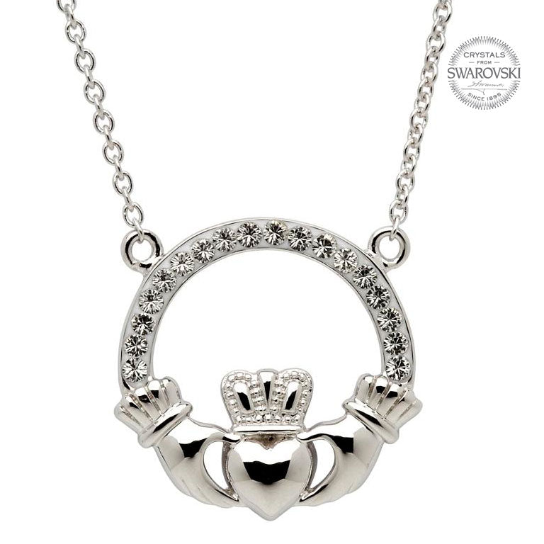 Sterling Silver Claddagh Necklace by Shanore