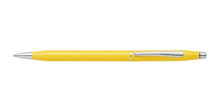 Cross Century Classic Sunrise Yellow Pearlescent Lacquer Ballpoint Pen at0082-126 - Diana O'Mahony Jewellers