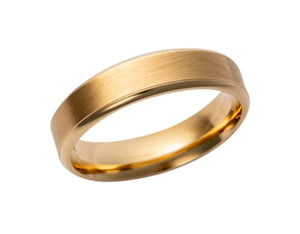 Gents 9ct Gold Matte Wedding Band