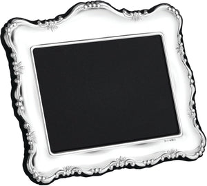 Carrs Sterling Silver Antique Style Floral Edge Photo Frame PDR4 - Diana O'Mahony Jewellers