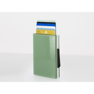 Ogon Design Lichen Grey Leather RFID Cascade Slider Wallet - Diana O'Mahony Jewellers