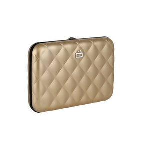 Ogon Design Rose Gold Quilted RFID Stockholm Alluminium Wallet - Diana O'Mahony Jewellers