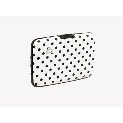 Load image into Gallery viewer, Ogon Design White & Black Polka Dot RFID Stockholm Alluminium Wallet - Diana O'Mahony Jewellers