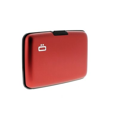 Ogon Design Red RFID Stockholm Alluminium Wallet
