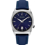 Gents Bulova Accutron II Blue Leather Strap Watch 96B212