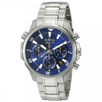 Gents Bulova Marine Star Blue Dial Chronograph Steel Bracelet Watch 96B256