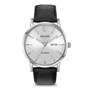 Bulova Gents Classic Leather Strap Automatic Watch - 96c130