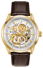 Gents Bulova Gold Sutton Automatic Watch - 97A138