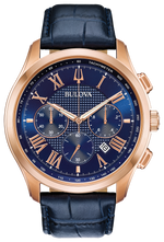 Gents Bulova Rose Gold Wilton Chronograph Watch - 97b170