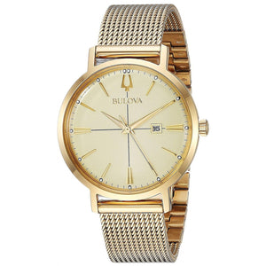 Ladies Bulova Gold Watch with Mesh Bracelet 97M115 - Diana O'Mahony Jewellers
