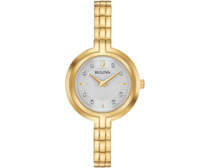 Load image into Gallery viewer, Ladies Bulova Classic Style Gold Bracelet Watch 97P144 - Diana O'Mahony Jewellers
