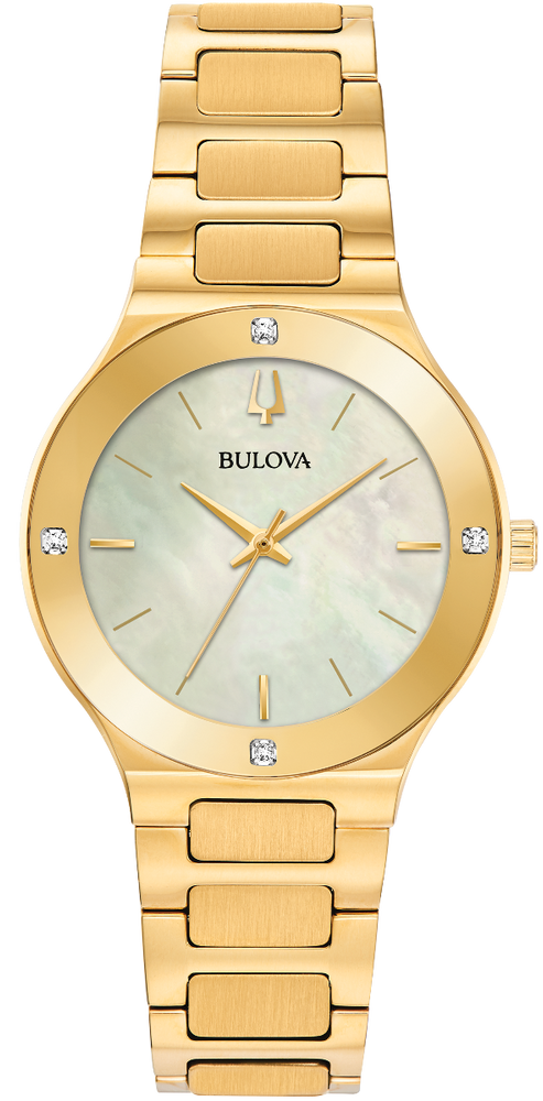 Ladies Bulova Millennia Gold & Diamond Watch - 97R102