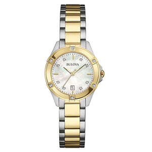 Load image into Gallery viewer, Ladies Bulova Two Tone Diamond Watch - 98w217
