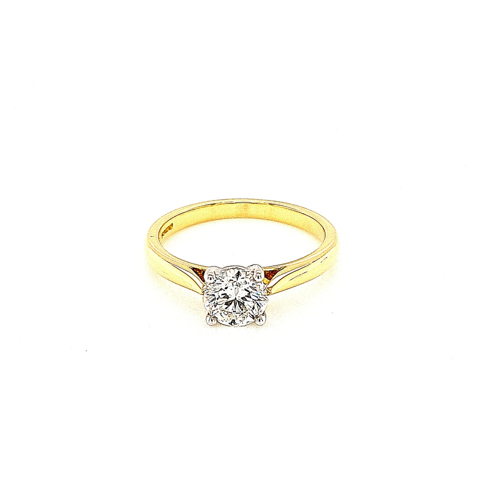Yellow Gold Solitaire Diamond Engagement Ring