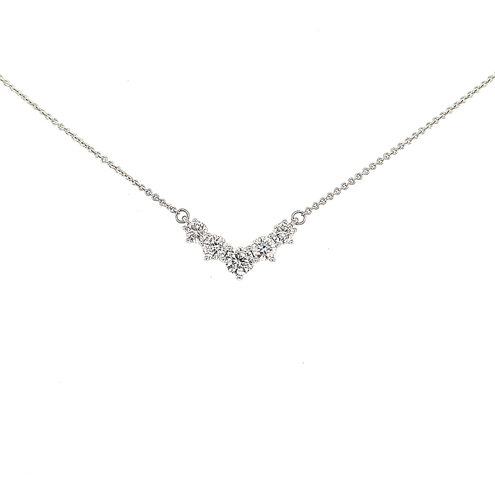 Graduating Five Stone Diamond Necklace