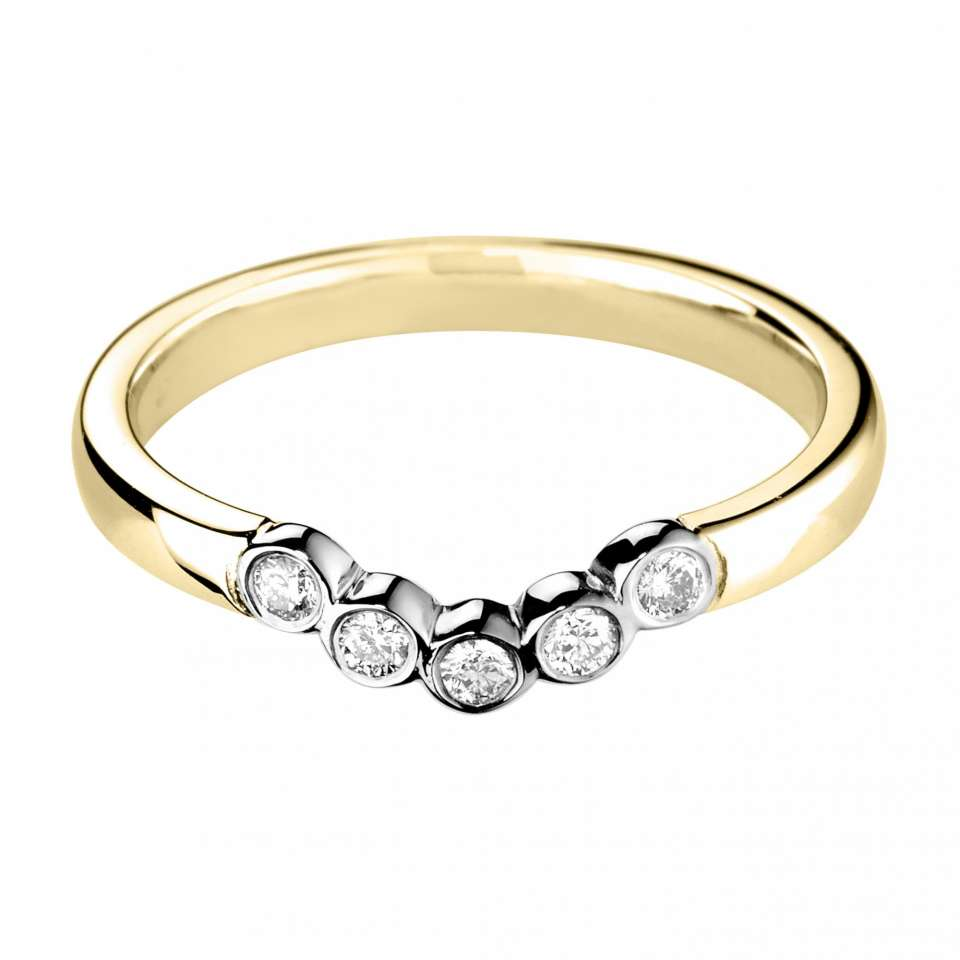 Vintage Style Shaped Diamond Wedding Band