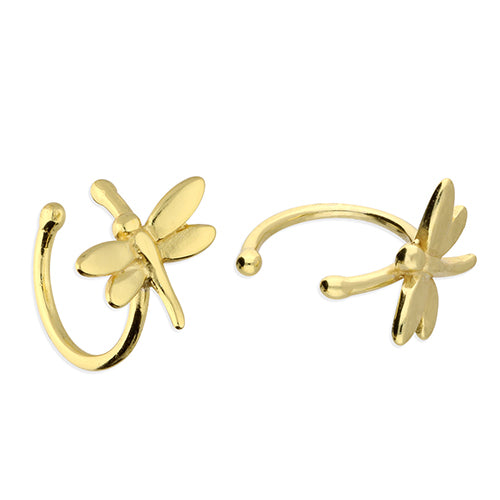Load image into Gallery viewer, Sterling Silver Gold Vermeil Dragonfly Ear Cuff - Diana O'Mahony Jewellers