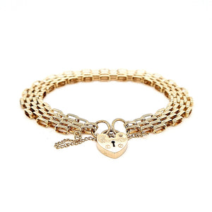 Vintage 9ct Gold Gate Bracelet - Diana O'Mahony Jewellers