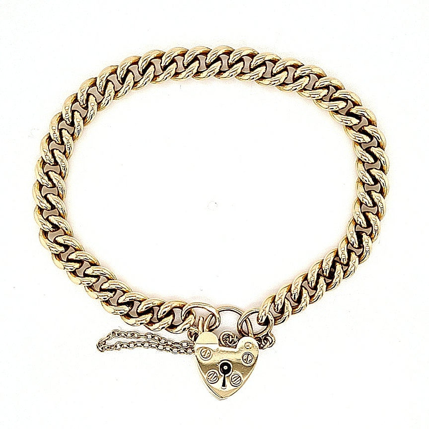 Load image into Gallery viewer, Vintage 9ct Gold Curb Link Bracelet - Diana O'Mahony Jewellers