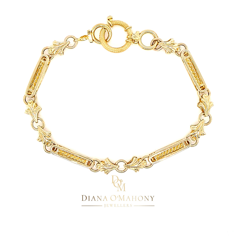 9ct Yellow Gold Vintage Bracelet with Long Links