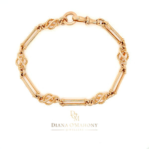 9ct Rose Gold Antique Bracelet Albert Style