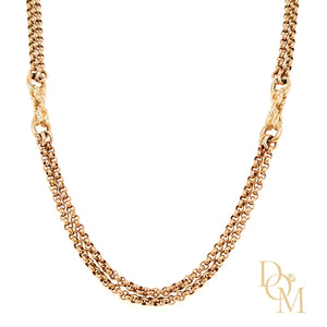 9ct Rose Gold Vintage Necklace