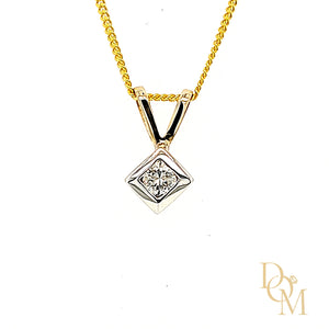Load image into Gallery viewer, 9ct Yellow Gold Diamond Solitaire Pendant