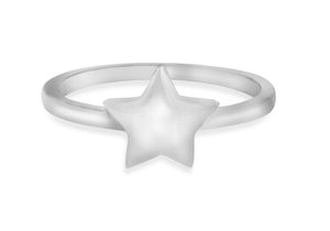Sterling Silver Star Shaped Signet Ring - Diana O'Mahony Jewellers