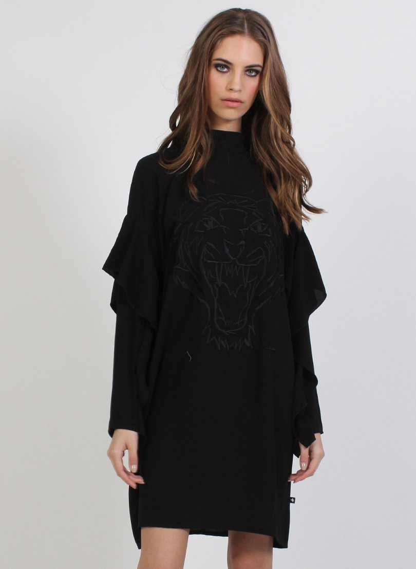 FEDERATION - Black Fine Time Roar Dress