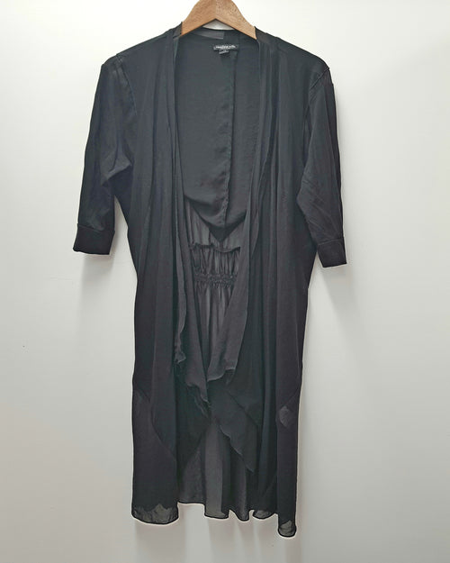 CAROLINE SILLS - Black Jacket/Duster - PRELOVED