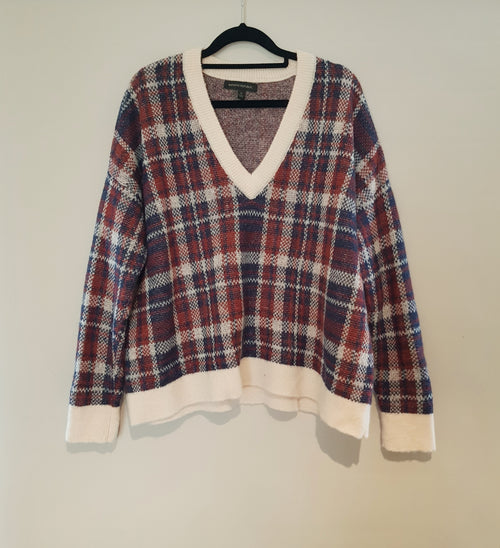 BANANA REPUBLIC - Check Knit Jumper - PRELOVED