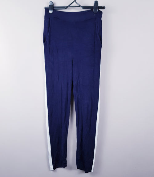 ZARA - Navy Knit Lounge Pants - PRELOVED
