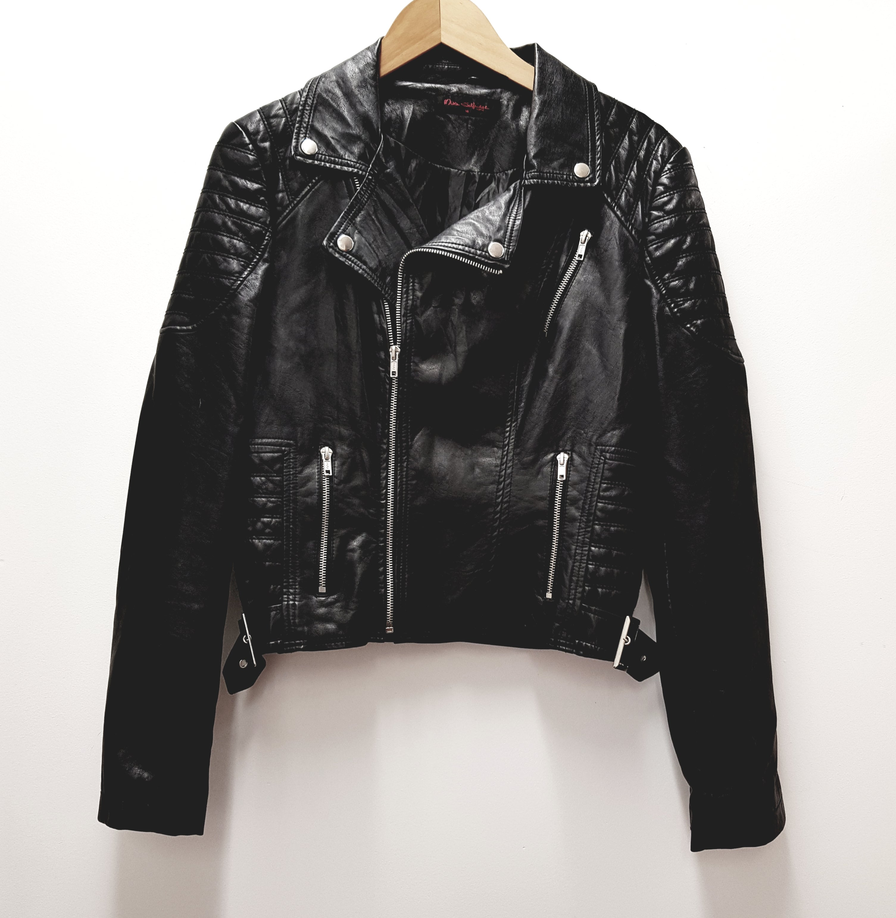 MISS SELFRIDGE - Faux Leather Jacket - PRELOVED