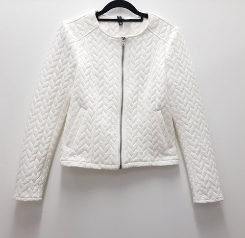 DIVIDED by H&M - White Quilted Jacket - PRELOVED