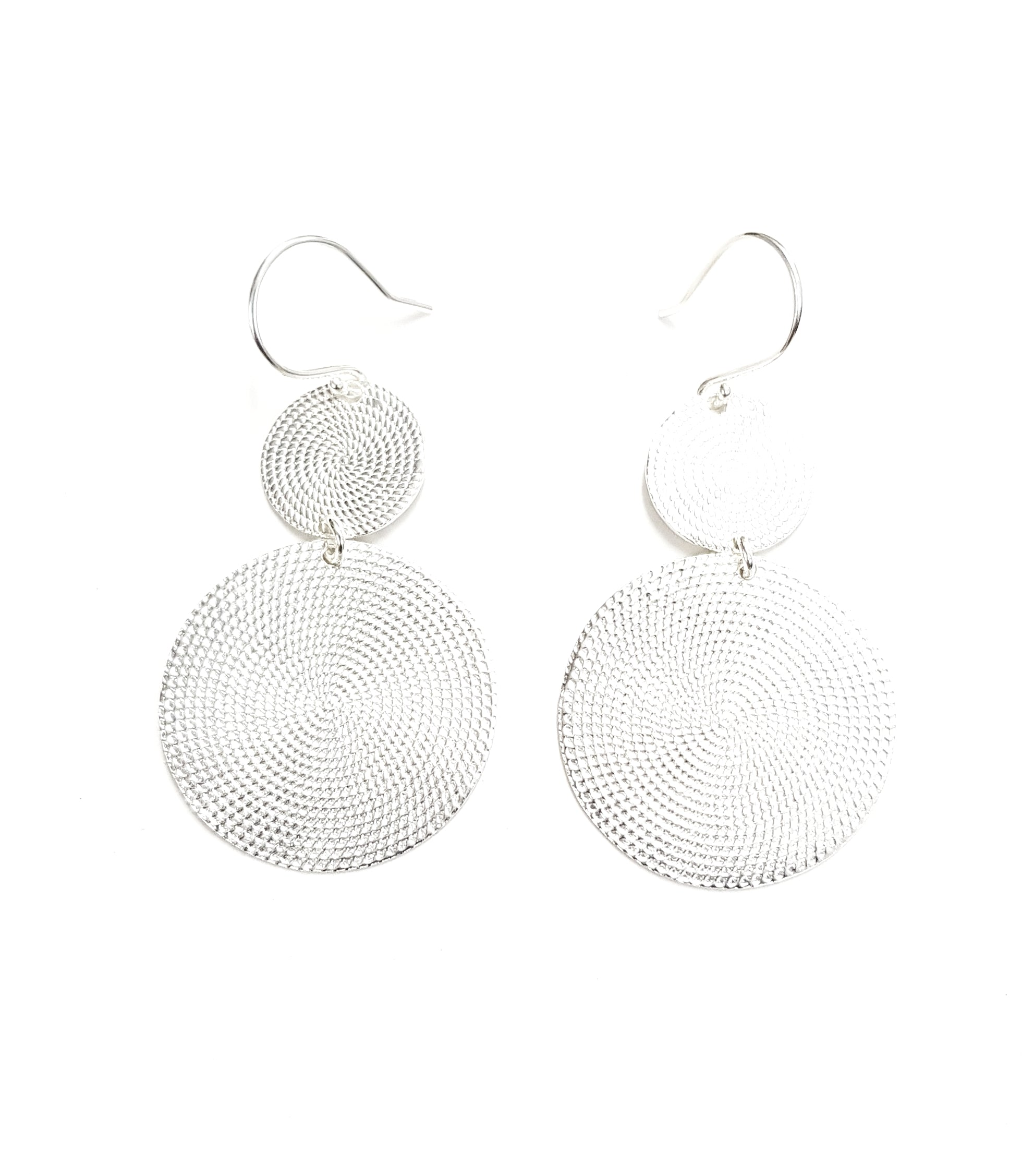 LIVE LIKE LIL - Sterling Silver Disc Earrings