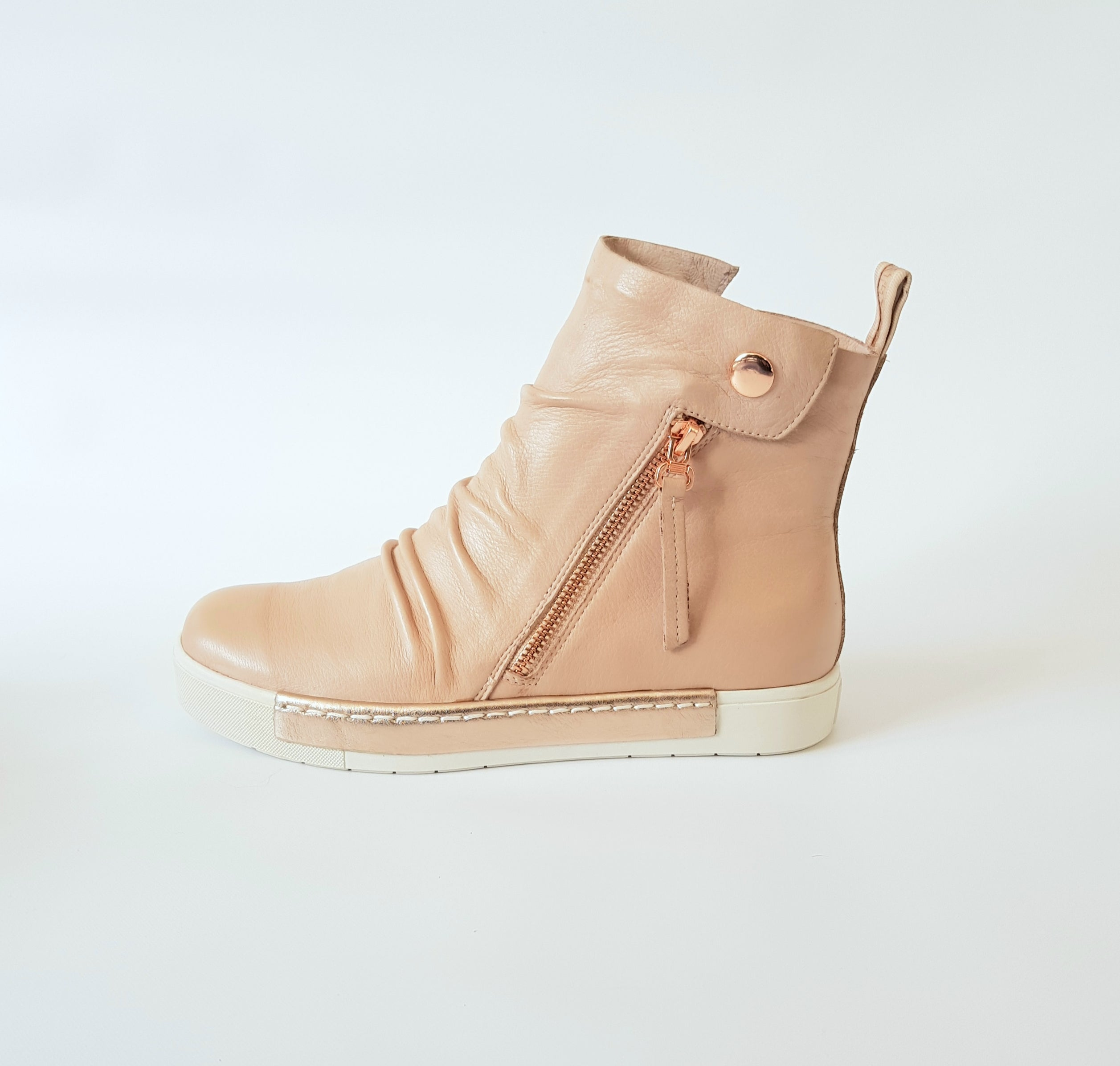 SILENT D - Blush & Rose Gold Venita Sneakers