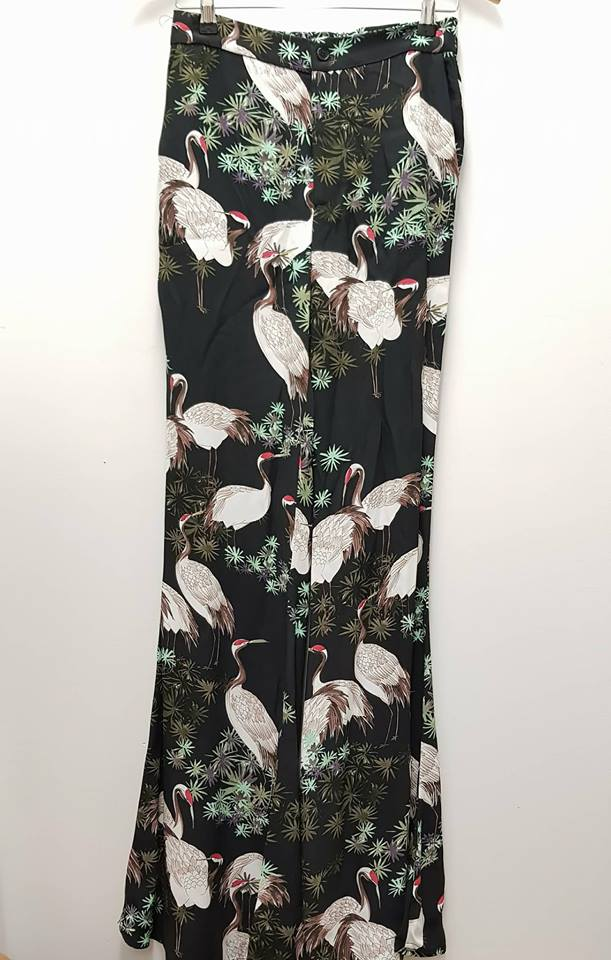 32b91d32 ZARA WOMAN - Tropcial Print Flared Pants - PRELOVED – gus&fannie design