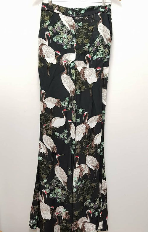 ZARA WOMAN - Tropcial Print Flared Pants - PRELOVED