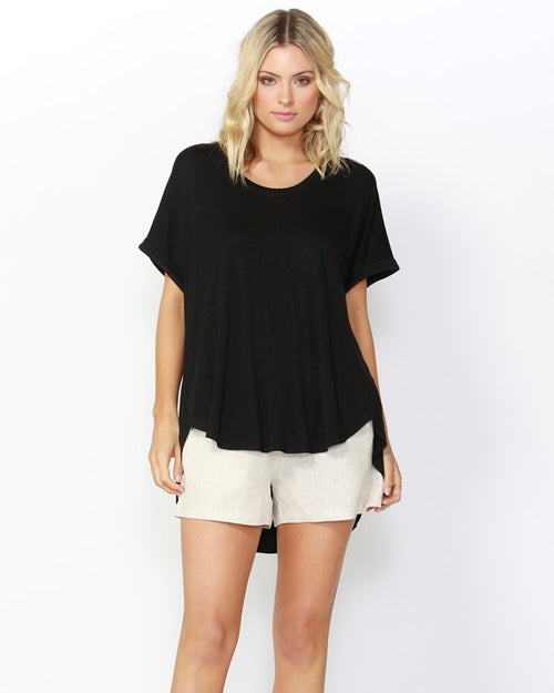 BETTY BASICS - Black Adelaide Tee Shirt