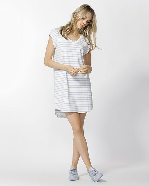 BETTY BASICS - Ocean/Ivory Ava Dress
