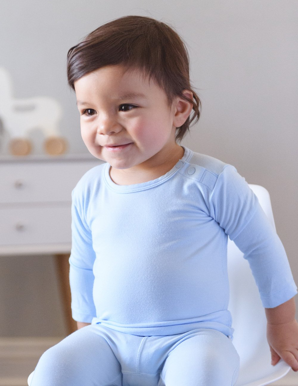 BOODY BABY - Sky Organic Bamboo Long Sleeve Top