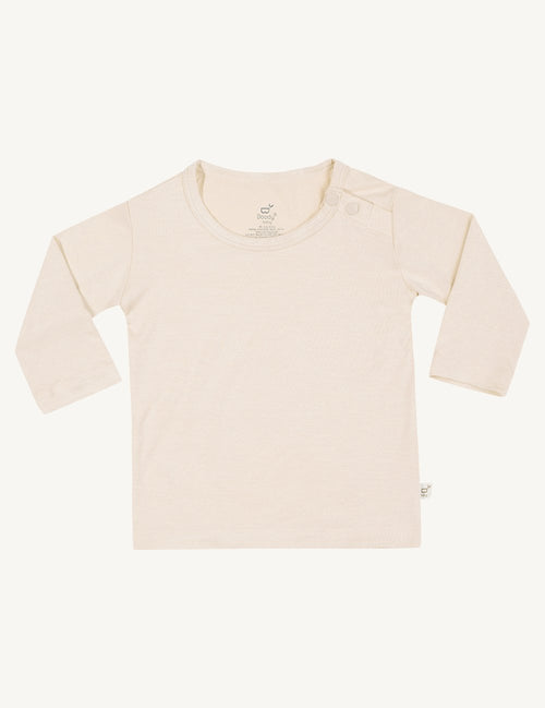 BOODY BABY - Chalk Organic Bamboo Long Sleeve T-Shirt