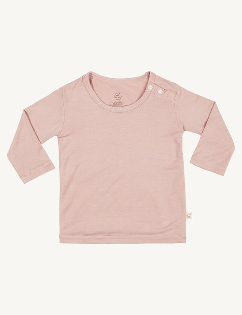 BOODY BABY - Rose Long Sleeve Organic Bamboo Top
