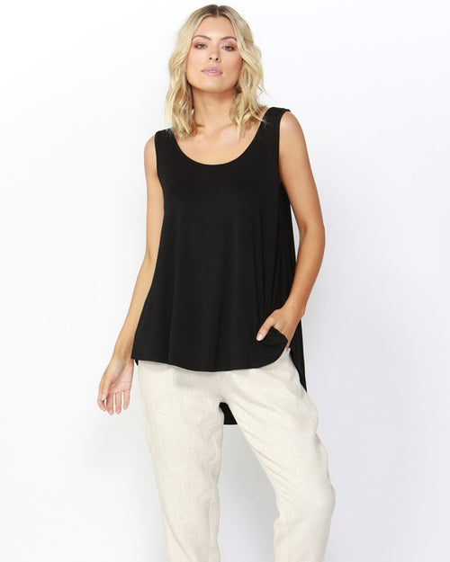 BETTY BASICS - Black Boston tank