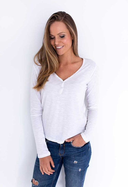 HUMIDITY - White Bliss Long Sleeved Tee