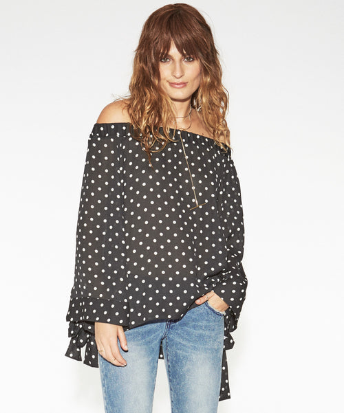 One Teaspoon - Bonnie Ace Off The Shoulder Top