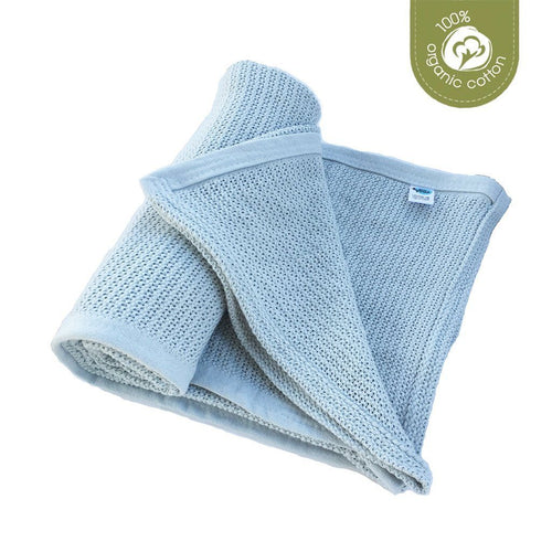 ECO SPROUT - Cellular Baby Blanket - Sky Gray