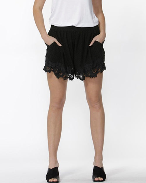 Sass - Edie Dobby Lace Shorts