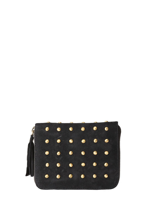 LIVE LIKE LIL - BLACK SUEDE ELLE WALLET WITH STUDS