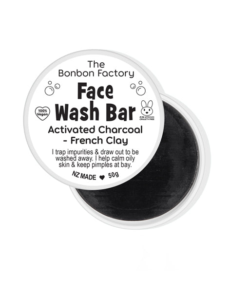 BONBON VEGAN - Activated Charcoal Face Wash Bar